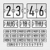 picture of count down  - Flip clock template with time - JPG