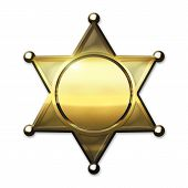 Golden Sheriff Badge