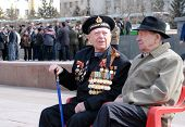 Russian Wwii Veterans On Victory Day