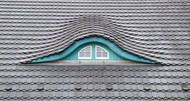 picture of gabled dormer window  - Detailed view of a Dormer  - JPG
