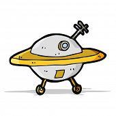 pic of flying saucer  - cartoon flying saucer - JPG