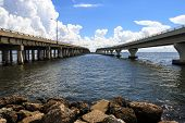 picture of gulf mexico  - Two bridges - JPG