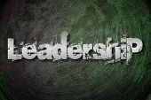 stock photo of leadership  - Leadership Concept text leadership - JPG