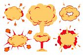 picture of explosion  - Illustration of a set of explosion - JPG