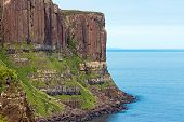 pic of kilt  - The landmark Kilt rock seen on the east coast of the Isle of Skye - JPG