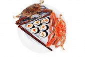 picture of blue crab  - Japanese traditional Cuisine  - JPG