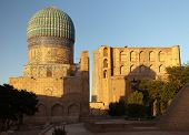 foto of samarqand  - Evening view from Bibi - JPG
