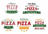 picture of combinations  - Italian pizza restaurant labels in combination of red - JPG