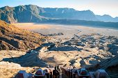 picture of bromo  - Volcanic plateau of mount Bromo Java Indonesia - JPG