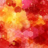 stock photo of hexagon pattern  - Bright hexagon pattern for Your design - JPG