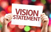 picture of statements  - Vision Statement card with colorful background with defocused lights - JPG