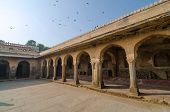 pic of arcade  - Arcade of Chand Baori Stepwell in Rajasthan India - JPG