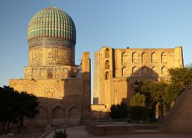 picture of samarqand  - Evening view from Bibi - JPG