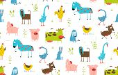 foto of baby goose  - Countryside amusing baby animals pattern for children - JPG