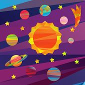 picture of earth mars jupiter saturn uranus  - collection of vector images of planets in the solar system papercut style - JPG
