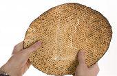 picture of matzah  - Shemurah matzah for Pesach holiday - JPG