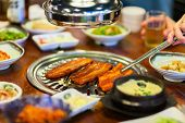 pic of kimchi  - Kimchi Korean cuisine barbecue grill meat and vegetables - JPG