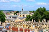 stock photo of church-of-england  - Elevated view of Brasenose College seen from the University church of St Mary spire Oxford Oxfordshire England UK Western Europe - JPG