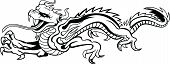 stock photo of evil  - Dragon Mythology China Black Monster Evil Ancient - JPG