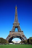 foto of exposition  - The Eiffel Tower at the Champ - JPG