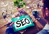 foto of strategy  - Search Engine Optimization Business Strategy Marketing Concept - JPG