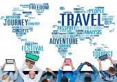 Travel Explore Global Destination Trip Adventure Concept poster