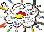 foto of loyalty  - Customer Loyalty Service Support Care Trust Hand Concept - JPG