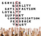 foto of scrabble  - Customer Service Quality Satisfaction Crossword Puzzle Concept - JPG