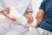stock photo of fracture  - Close - JPG