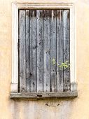 stock photo of old stone fence  - old historical buildings in old town of Kuldiga Latvia - JPG