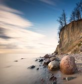 foto of cliffs  - Beautiful cliff on sea shore - JPG