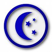 pic of blue moon  - Moon icon - JPG