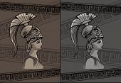 picture of sparta  - Athena drawing vector illustration set art sign - JPG