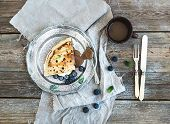pic of crepes  - Thin pancake or crepe with fresh blueberry - JPG