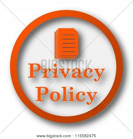 Постер, плакат: Privacy Policy Icon, холст на подрамнике