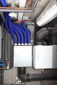 image of air conditioning  - Air ventilation system and heating in passive house for energy efficiency - JPG