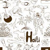Постер, плакат: Sketch Haiti Seamless Pattern