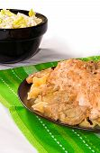 picture of artichoke hearts  - Chicken with Artichoke Hearts on a Bed of Egg Noodles - JPG