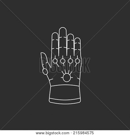 Glove with gems