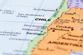 Chile On A Map poster