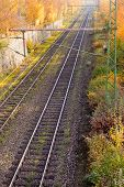 Railway Embankment in Fall