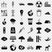 Protection Of Ecology Icons Set. Simple Style Of 36 Protection Of Ecology Icons For Web For Any Desi poster