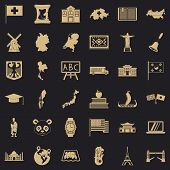 Destination Icons Set. Simple Style Of 36 Destination Icons For Web For Any Design poster