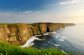 World Famous Cliffs Of Moher, One Of The Most Popular Tourist Destinations In Ireland. Widely Known poster