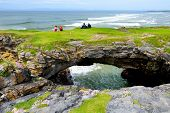 Fairy Bridges, Impressive Stone Arches Near Tullan Strand, One Of Donegals Surf Beaches, County Don poster