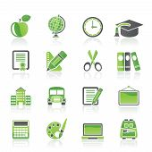 pic of school building  - school and education icons  - JPG