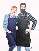 Backyard Barbecue Party. Family Cooking Grilled Food. Cooking Together. Couple In Love Getting Ready poster