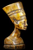 picture of nefertiti  - bust of Queen Nefertiti on black background - JPG