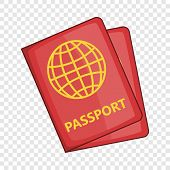 Passport Icon. Cartoon Illustration Of Passport Icon For Web poster