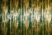 Постер, плакат: Зеленый бамбук стены Текстура в постели номер тайском стиле Лана